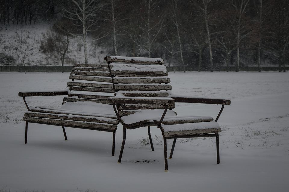 Bench, Snow, Winte, Alone, Cold, Frost, Lonely, Frozen