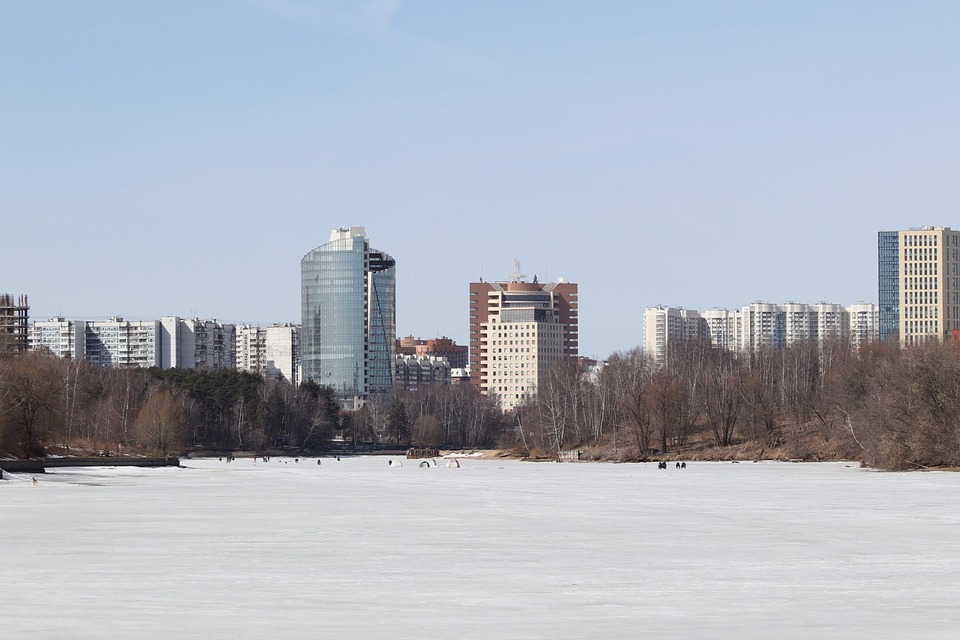 Winter, Snow, Megalopolis, Architecture, Panoramic