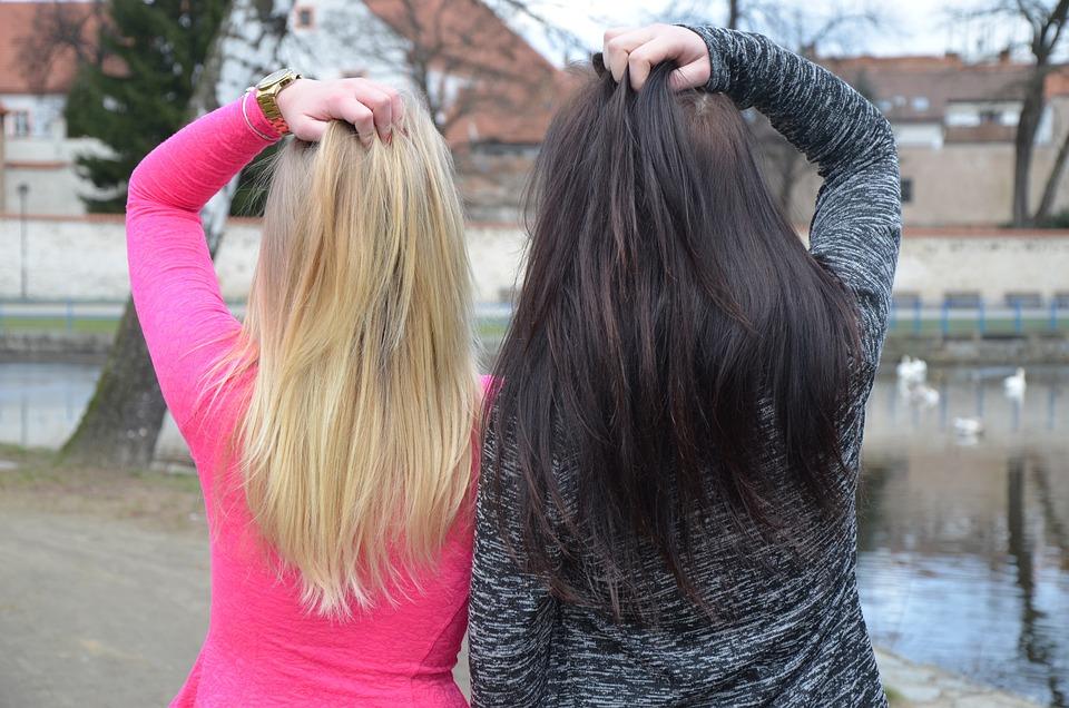 White, Black, Girls, Friends, Love, Winter