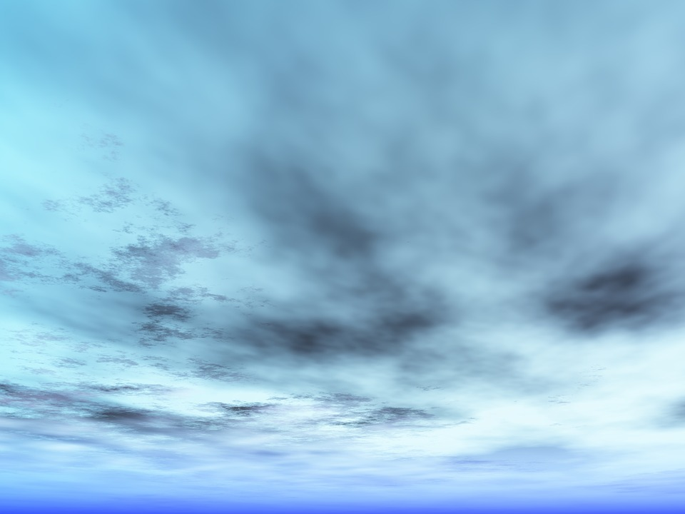 Clouds, Winter, Sky, Blue, Blue Sky