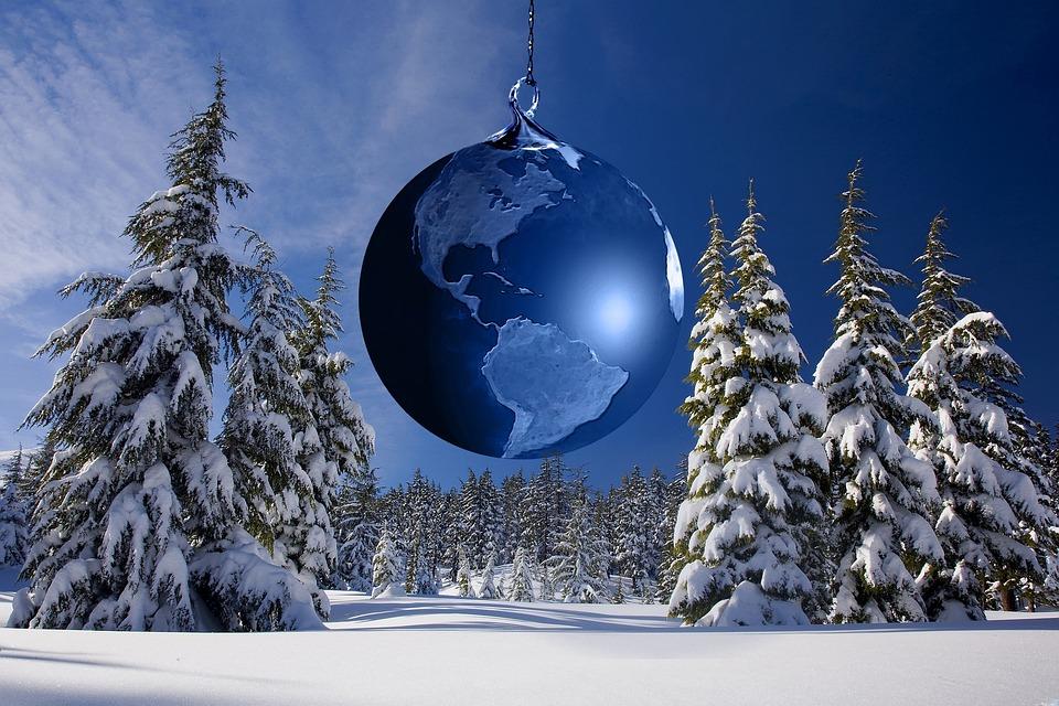 Christmas, Winter, Christmas Ornament, Globe, Earth