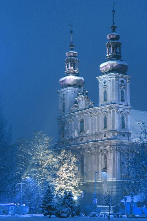 Winter, Church, Nysa, Silesian Rome, A Fairy Tale