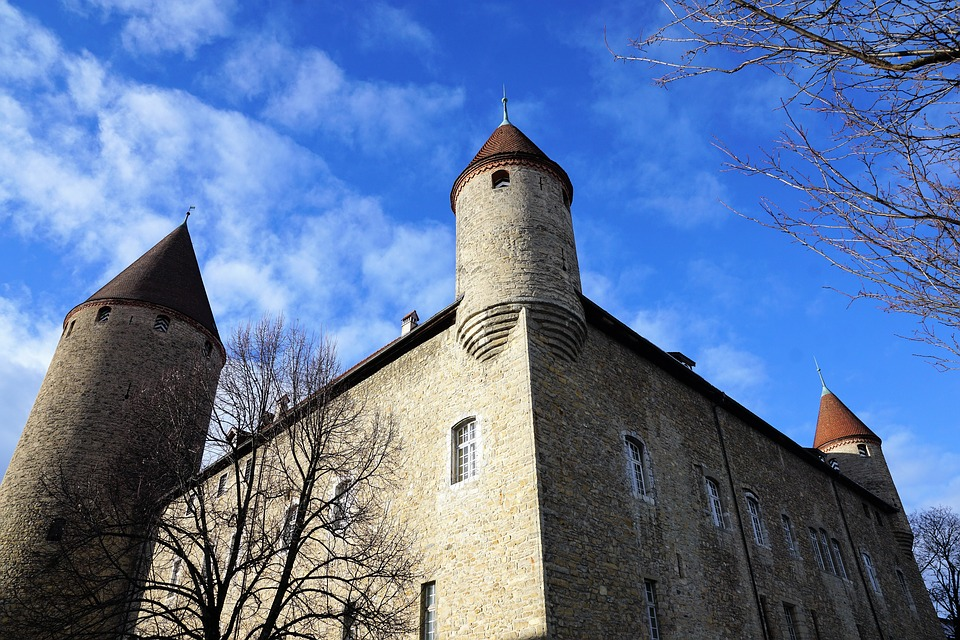Architecture, Old, Sky, Tree, Church, Building, Winter