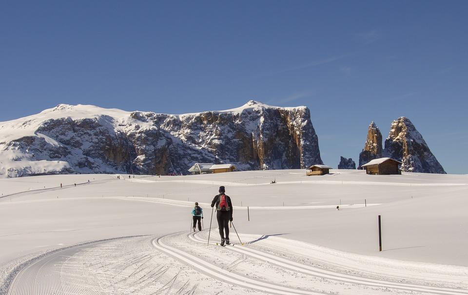 Cross Country Skiing, Classic, Seiser Alm, Snow, Winter
