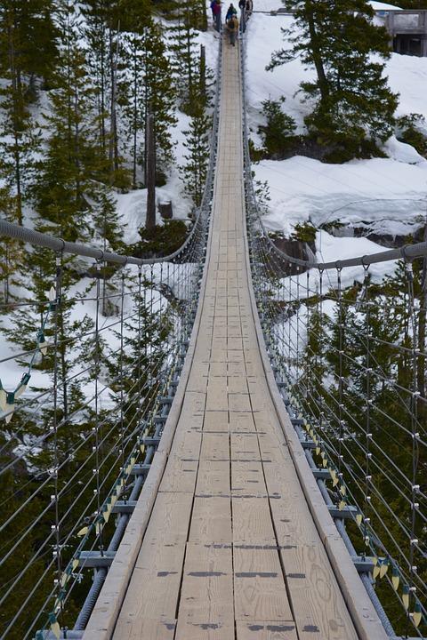 Bridge, Winter, Snow, Landscape, Nature, Outdoor, Cold