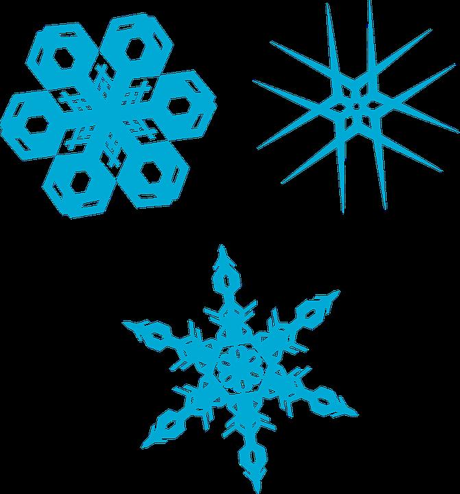 Snowflakes, Crystals, Winter, Cold, Symmetry, Snow
