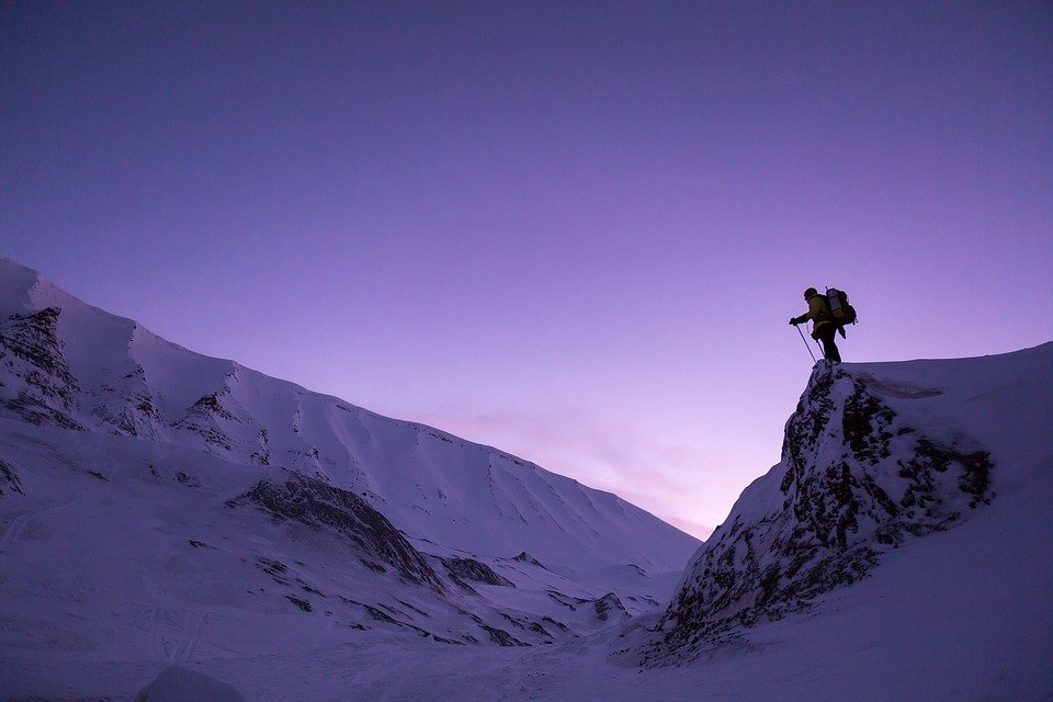 Snow, Sunset, Hiking, Cold, Winter Landscape, Winter