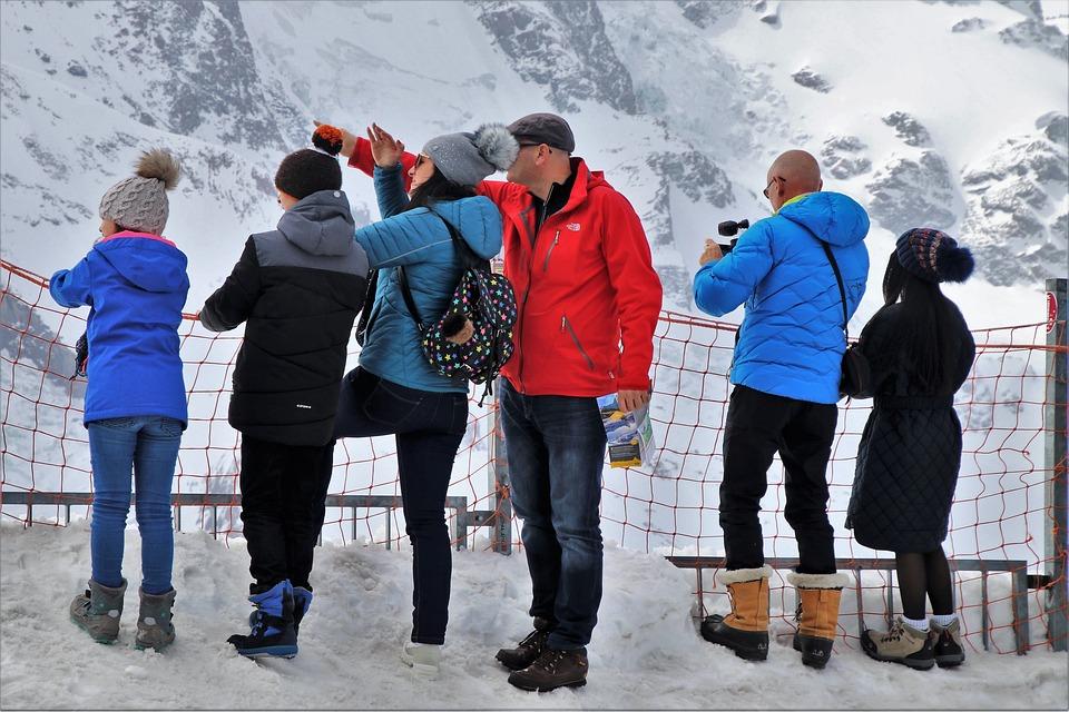 Zermatt, The Alps, Conversation, Snow, Winter, Male