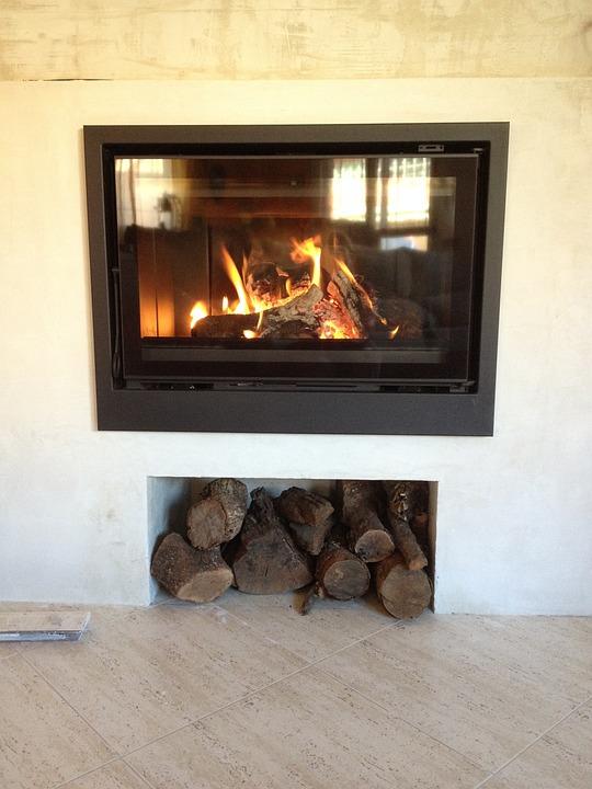 Fireplace, Fire, Home, Winter, Cut Firewood, Heat