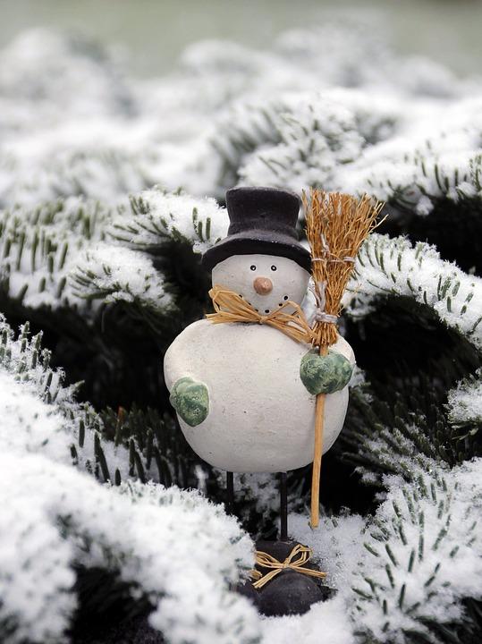 Snowman, Figure, Snow, Deco, Winter, Wintry
