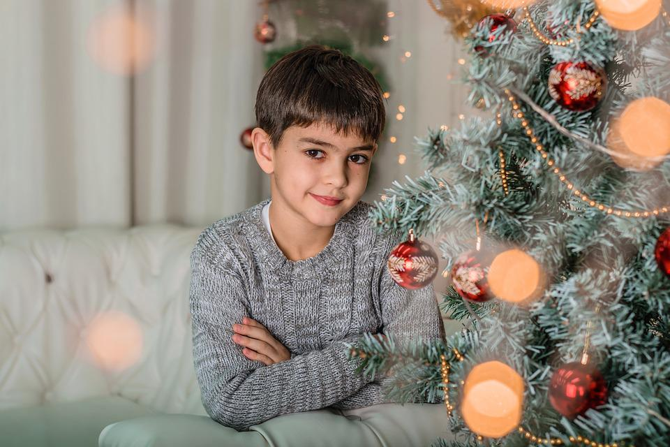 Christmas, Winter, Family, Young, Lovely, Ornament