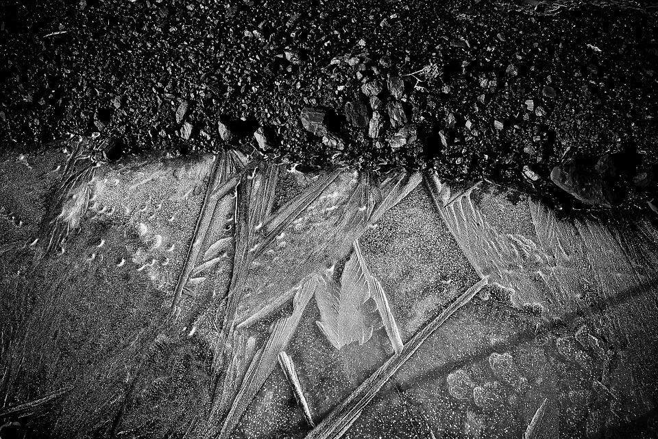 Ice, Frozen, Winter, Cold, Frost, Structure, Lines