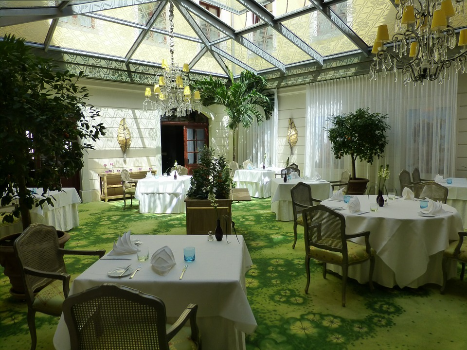 Winter Garden, Bülow Palais, Courtyard, Gastronomy