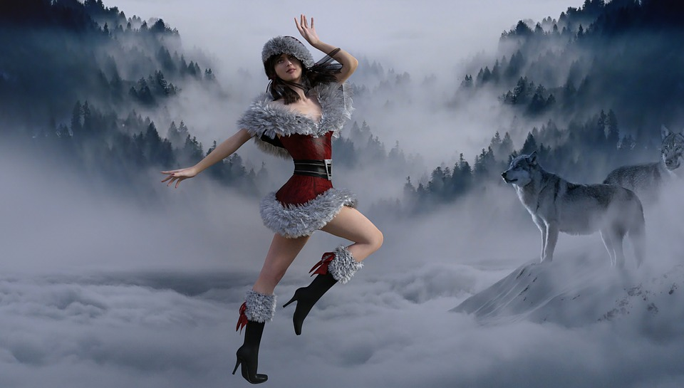 Xmas, Girl, Snowy, Happy, Winter, Winter Wonderland