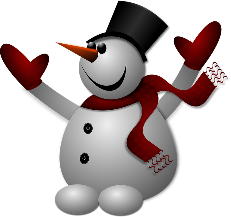 Snowman, Winter, Cold, Hat, Gloves, Scarf, Frozen