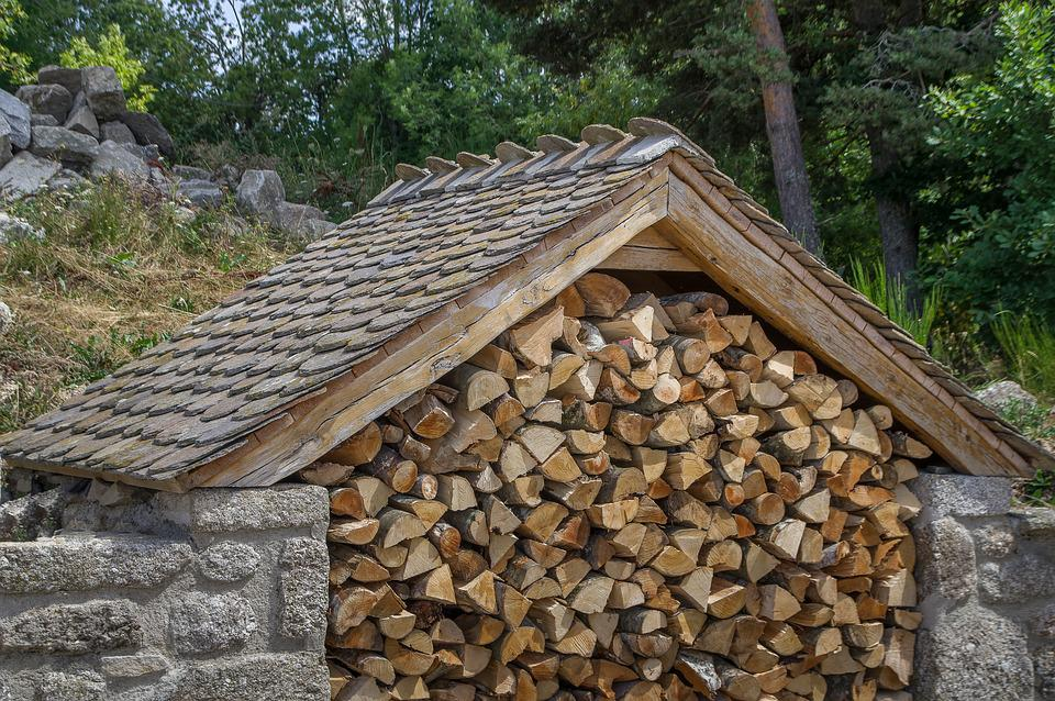 Wood, Heating, Logs, Winter, Shed