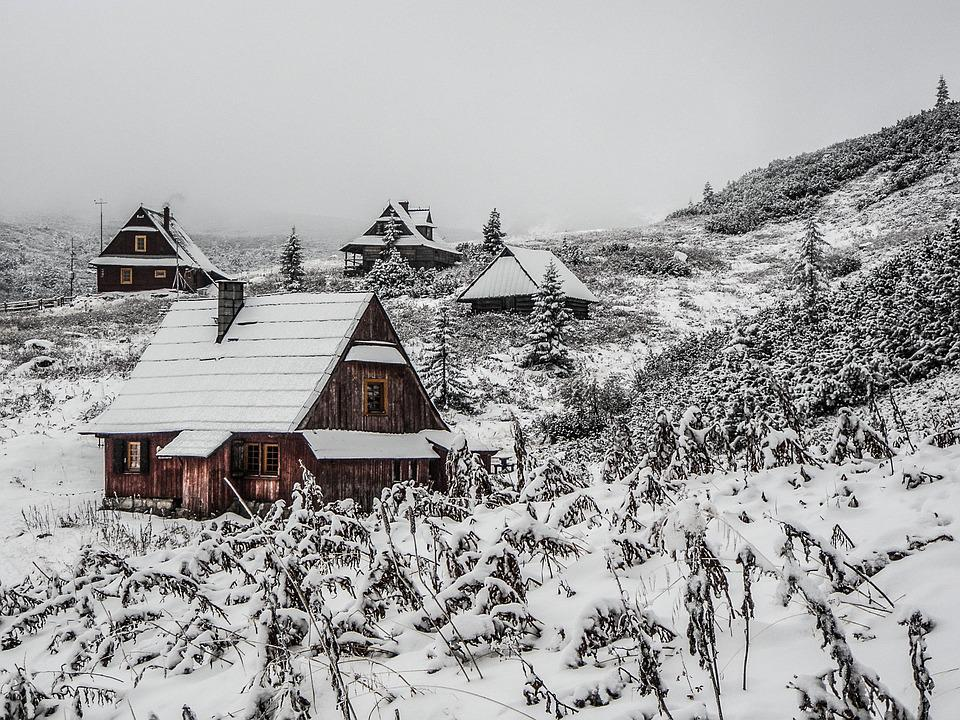 House, Winter, Mountains, Snow, Christmas, Holiday