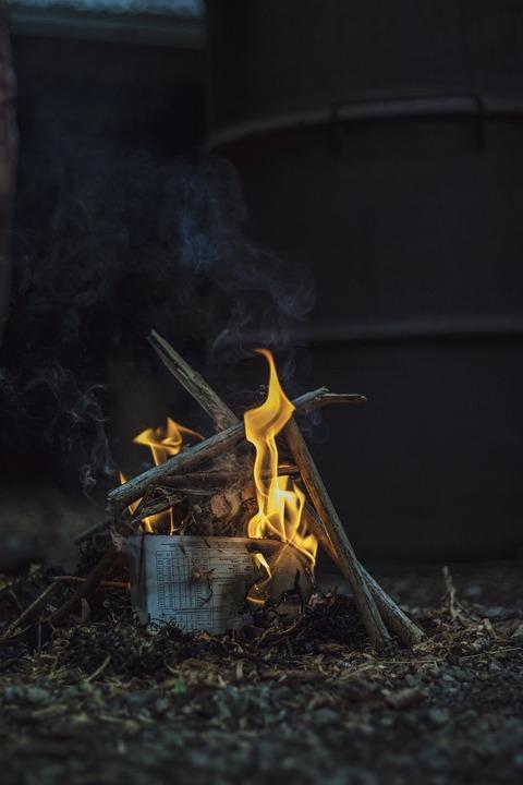 Fire, Winter, Fireplace, Flame, Warm, Wood, Hot, Burn