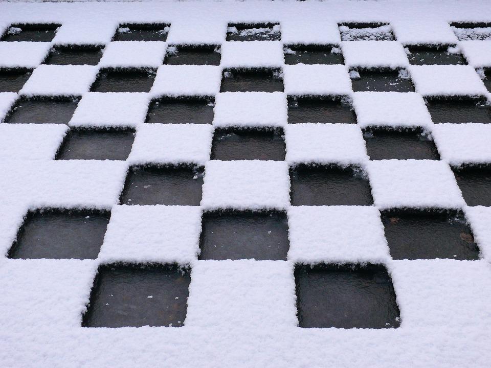 Flat Roof, Snow, Winter, Ice