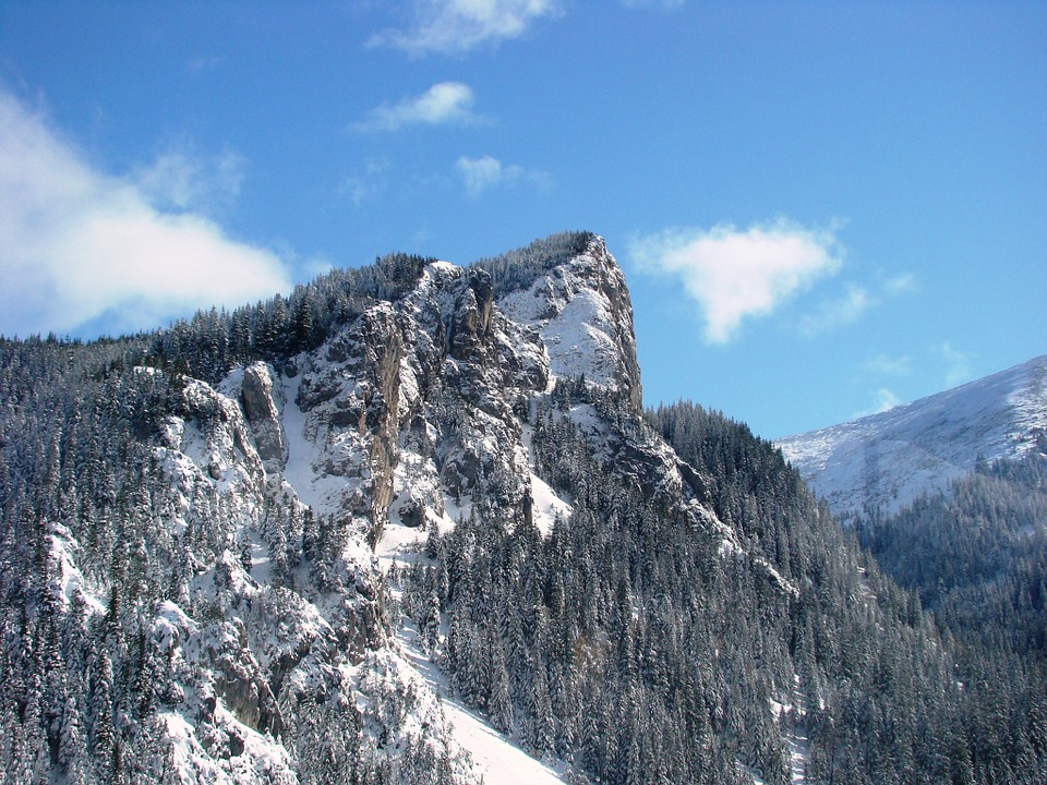 Tatry, Winter, Winter In The Mountains, Top View