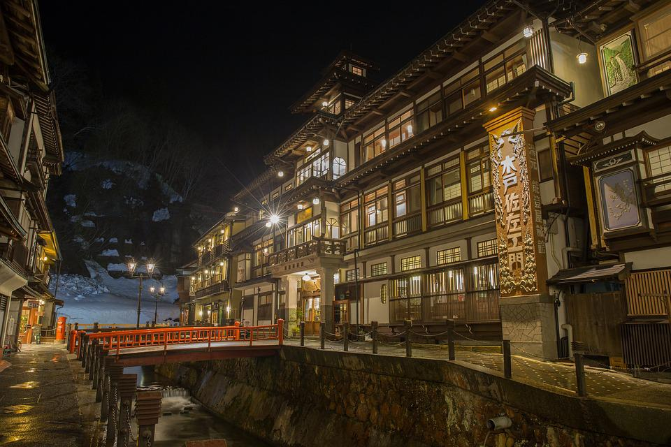 Japan, Hot Springs, Inn, Yamagata, Silver Mine, Winter