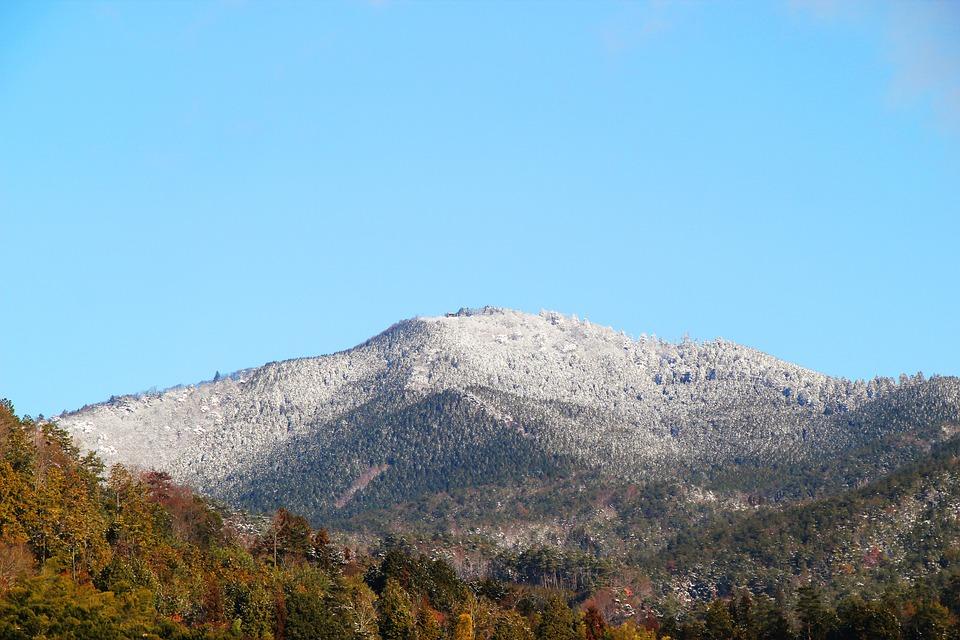 Mountain, Snow, Winter, White, Sky, Green, Sunny, Japan