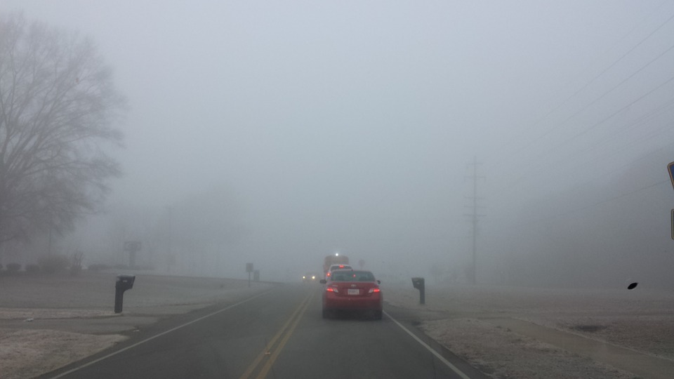 Mist, Fog, Car, Landscape, Road, Travel, Winter, Cold