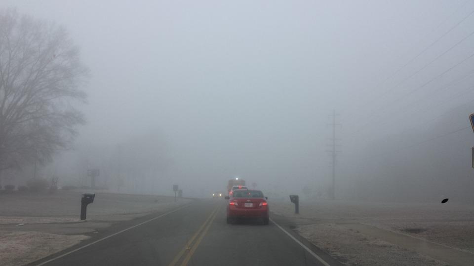 Mist, Fog, Car, Landscape, Road, Travel, Winter, Cold