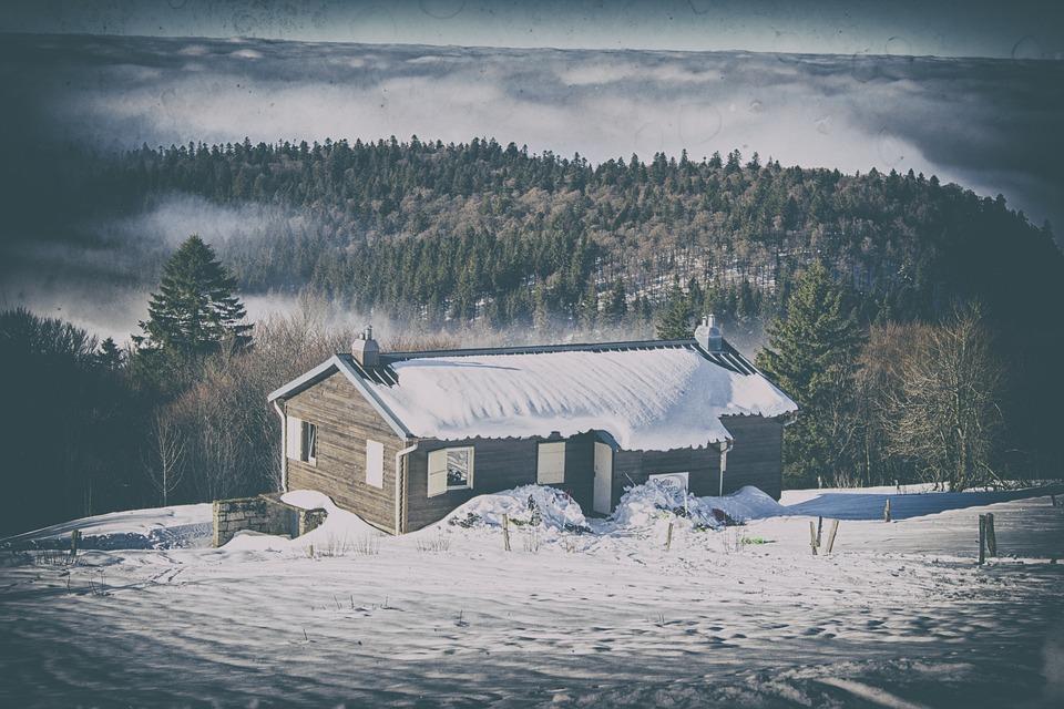 Winter, Mountains, Landscape, Snow, Nature, Sky, Clouds