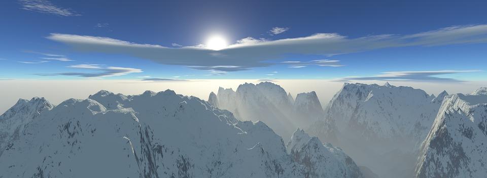 Panoramic, Snow, Panorama, Winter, Nature, Mountains