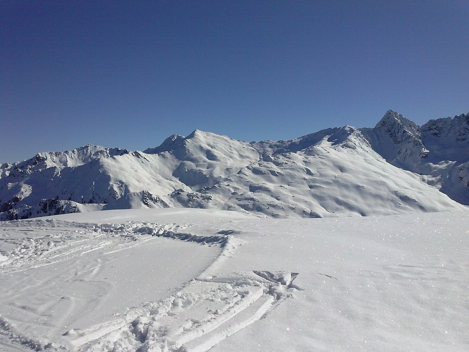 Mountains, Winter, Snow, Sun, Pitztal