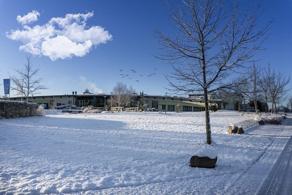Natural Therme, Templin, Uckermark, Winter, Snow, Spa