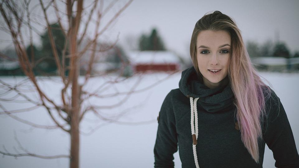 Winter, Beautiful, Nature, Outdoors, Woman, Fall