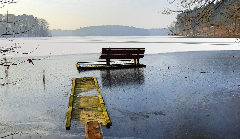 Lake, Nature, Landscape, Winter, Ice