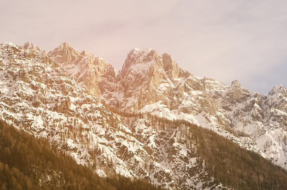 Mountain, Nature, Winter, Snow, Sun, Adventure, Travel