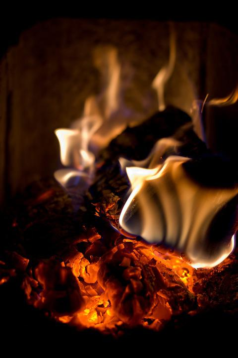 Fire, Winter, Christmas, Heat, Fireplace, Night, Hot