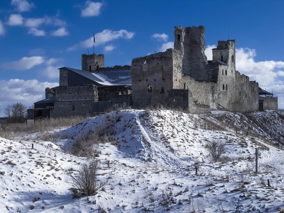 Architecture, Winter, Snow, Old, Estonia, Rakvere