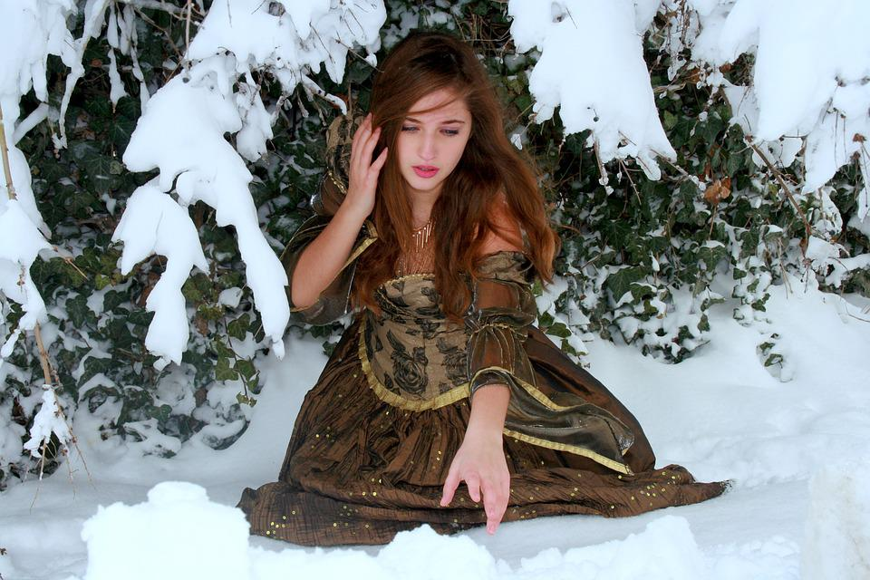 Girl, Sadness, Winter, Snow, Despair, Cold, Princess