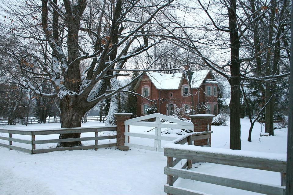House, Home, Winter, Snow, Residence, Farm House, Farm