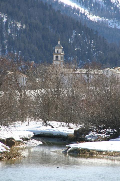Winter, Church, River