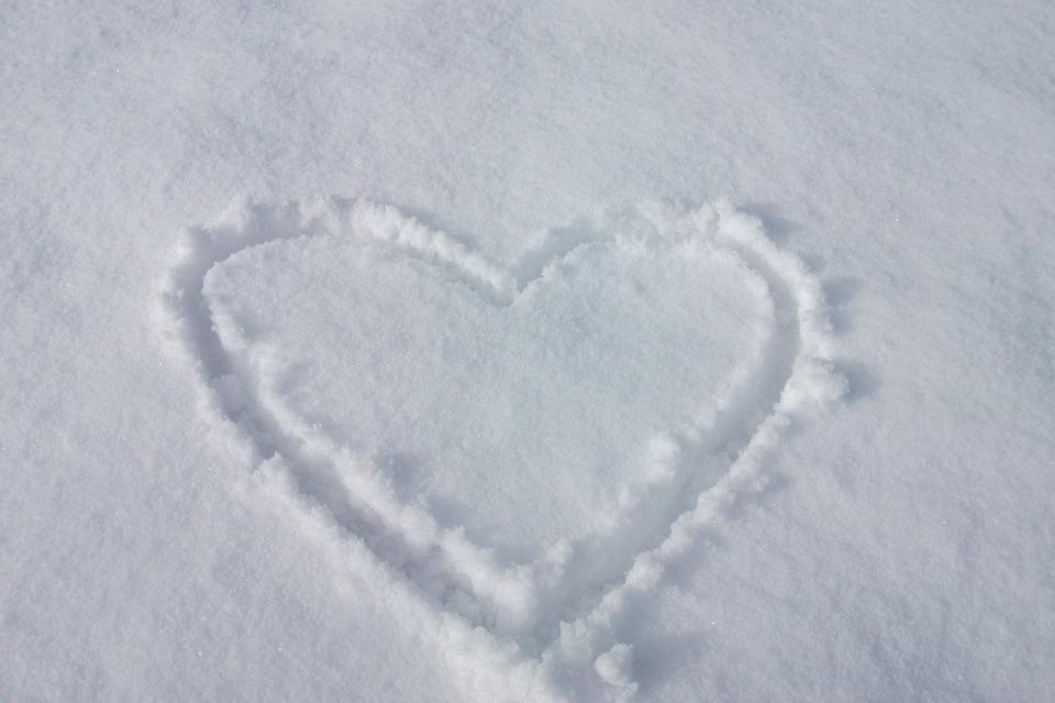 Heart, Love, Snow, Snow Heart, Longing, Winter, Romance