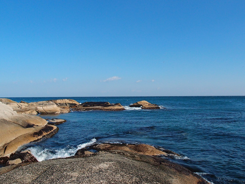 Sea, Winter Sea, Sky, Rock, Waves, Sokcho