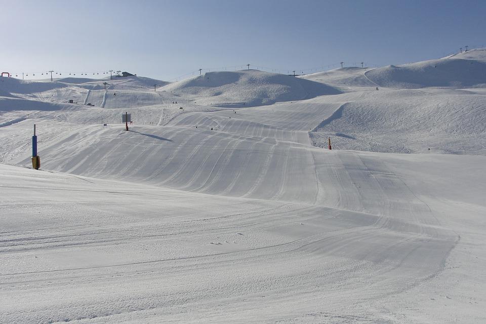 Snow, The Alps, Slopes, Mountains, Winter, Skis, White