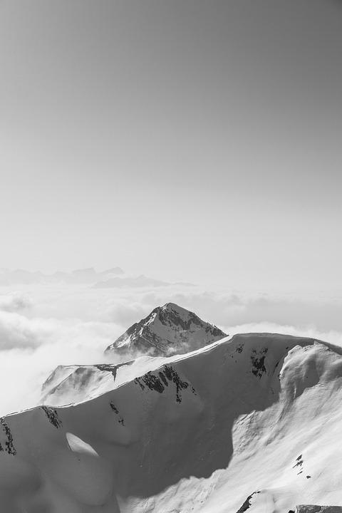 Mountains, Snow, Clouds, Landscape, Sky, Winter, Nature