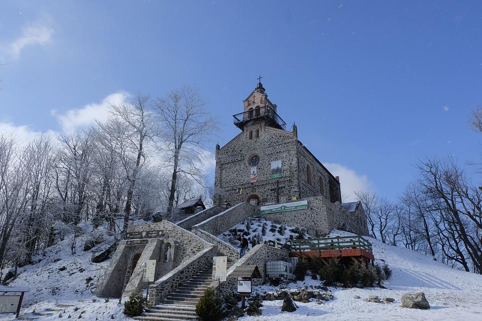 Winter, Snow, Church