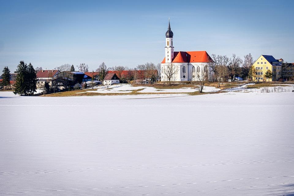 Church, Snow, Winter, Landscape, Architecture, Cold