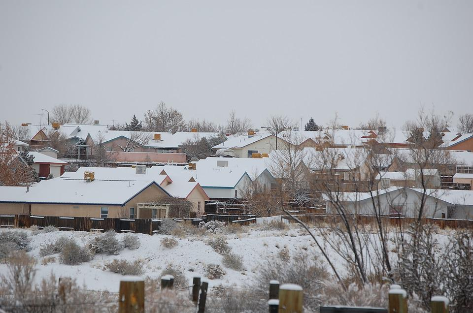 Houses, Subdivision, Snow, Winter, Residential, Home
