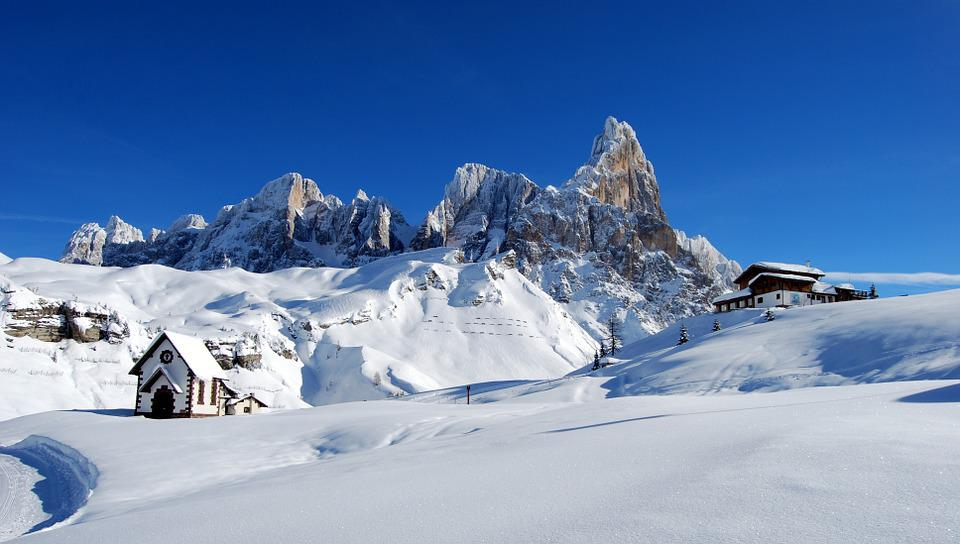 Dolomites, Refuge, Snow, Winter, Mountain, Cold