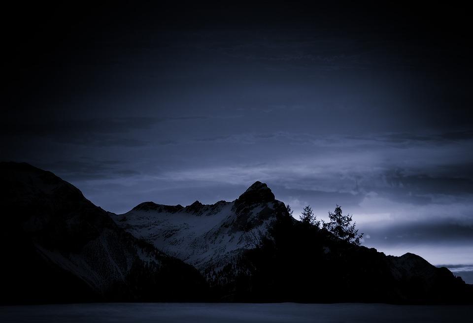 Mountains, Mountain Peaks, Winter, Snow, Landscape, Sky