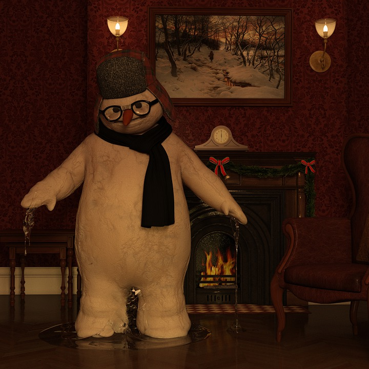 Snowman, Melt, Winter, Snow, Wintry, Snowmen, Figure